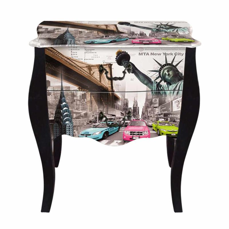 Trendy Vintage Bedside Table KD742 Custom Design