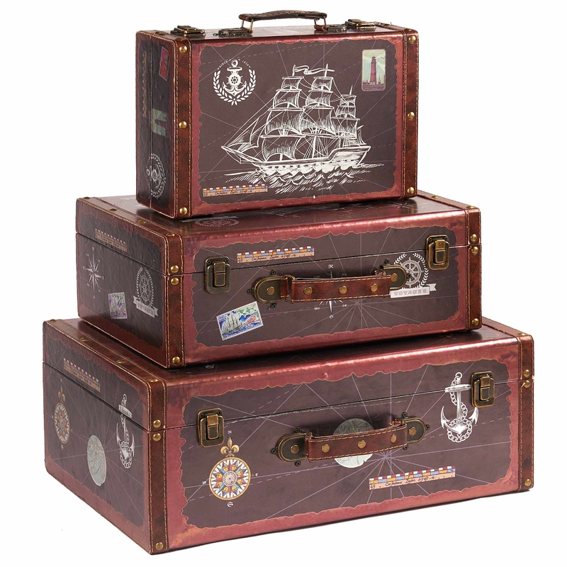 Vintage Suitcase Company With Beautiful Pattern