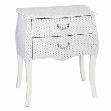 White Bedside Table with Drawers Wholesale SJ16312