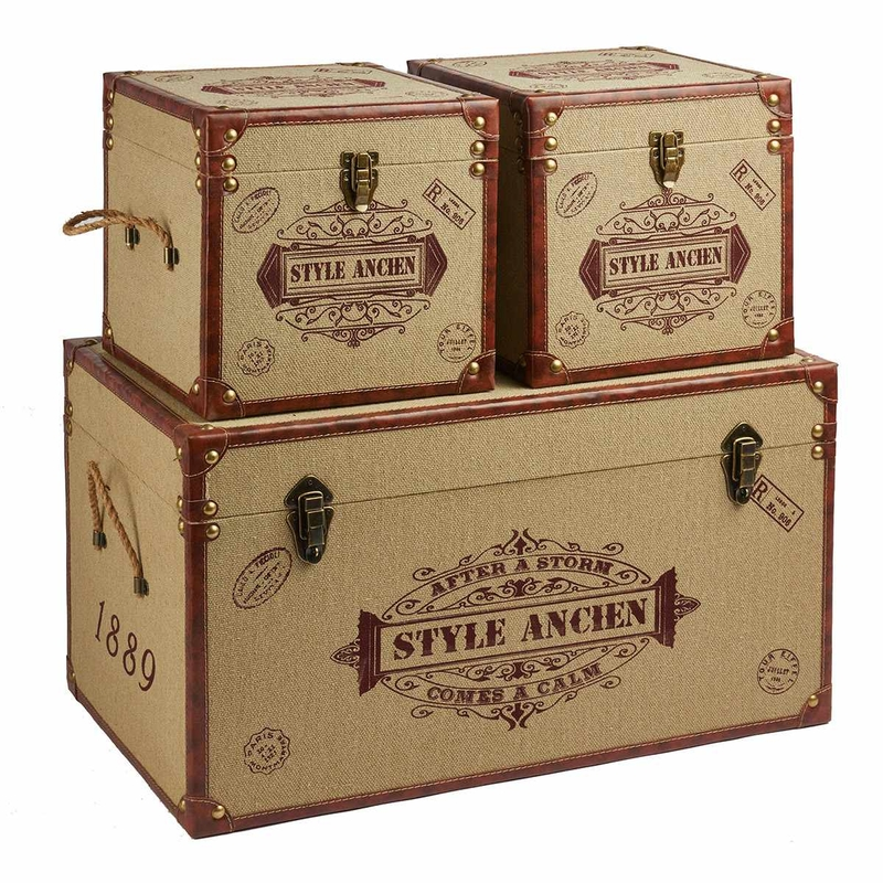 sophisticated rush decor gold wooden storage cheap trunks decorative trunk