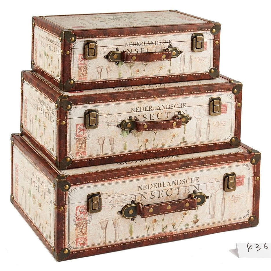 vintage suitcase wholesale with factory price